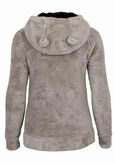 surface teddy fleece jacke mit 214 hrchen damen sweatshirts