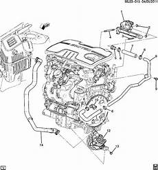 2011 chevy equinox engine diagram 2010 2012 gm emission pipe 2 4l lacrosse regal equinox terrain new oem 12647837 factory oem parts
