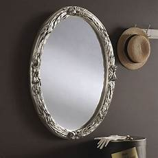oval silver mirror 96x71cm exclusive mirrors
