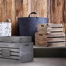 caisse en bois avec poign 233 es mobilier de salon