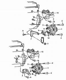 1993 4 0l jeep alternator wiring diagram 53010224ab genuine mopar bracket alternator and compressor