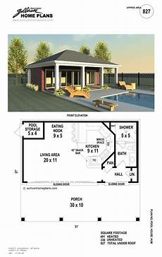 garage pool house plans b1 0827 p pool house plans