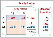 multiplication worksheets using area model 4625 multiply area diagrams standard algorithm exles solutions worksheets lesson