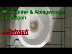 toilette reinigen ablagerungen toilettenr 228 nder urinstein beseitigen toilette reinigen haushaltstipps wc wieder wei 223