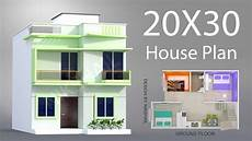 20x30 house plans 20x30 house plan with 3d elevation by nikshail youtube