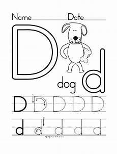 letter d worksheet dog coloring page preschool crafts