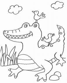 krokodil malvorlage einfach kinder ausmalbilder