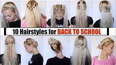 10 cute easy back to school hairstyles 2018 youtube
