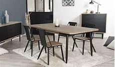 table salle 224 manger en acacia massif et m 233 tal 200 x 100 cm