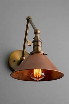 articulating copper wall sconce rustic lighting swivel wall light light fixture