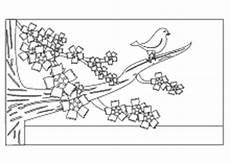 Malvorlagen Jahreszeiten Text Malvorlage Baum Mit Vogel Batavusprorace