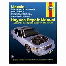 free car repair manuals 1985 lincoln town car engine control for lincoln town car 1981 1992 haynes manuals repair manual ebay