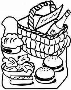 ausmalbilder malvorlagen essen und trinken kostenlos