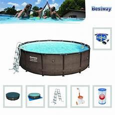 Frame Pool Rund - bestway power steel deluxe series frame pool set rund