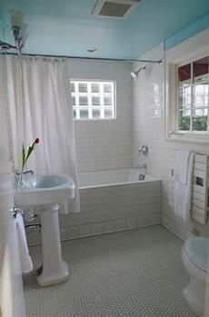 Plain White Tiles Bathroom