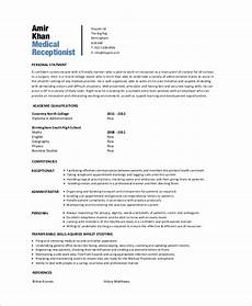 free 6 sle medical receptionist resume templates in ms word pdf