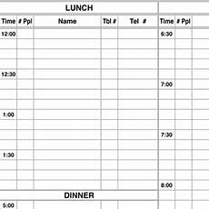 for printable reservation sheet