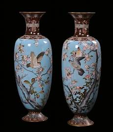 vasi cinesi cloisonne coppia di grandi vasi in smalto cloisonn 232 giappone xix