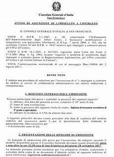 consolato generale usa avviso bando di concorso consolato generale d italia