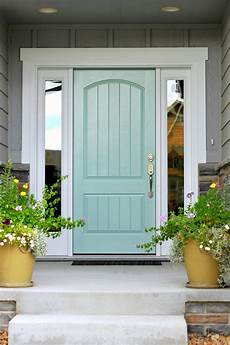 turquoise and blue front doors with paint colors