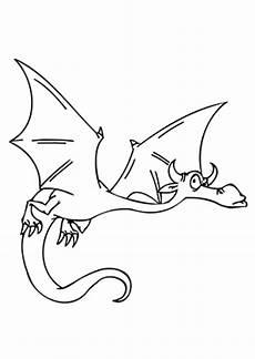 ausmalbilder drache im flug drachen malvorlagen