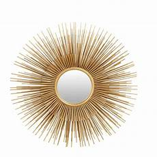 Gold Metal Sunburst Mirror 101 X 101 Cm Massala Maisons