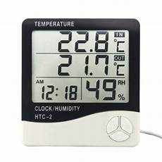 Image Clock Temperature Humidity Meter Electronic by Htc 2 Digital Thermometer Hygrometer Weather Station