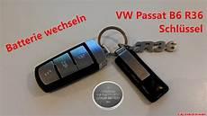vw schlüssel batterie wechseln batterie wechsel am vw passat b6 r36 schl 252 ssel change