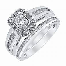 platinum 1ct radiant cut diamond halo bridal ernest