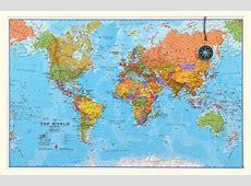 Small Wereldkaart Maps International met strips