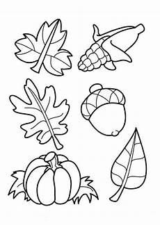 Einfache Malvorlagen Herbst Herbst Kostenlose Ausmalbilder Blatt Vorlage Und