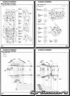 кузовные размеры acura 3 2tl 1999 2003 body repair manual
