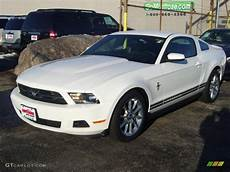 2010 performance white ford mustang v6 premium coupe