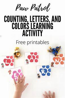 paw patrol learning activity with free printables