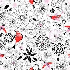 Papier Peint Motif Floral Avec Des Oiseaux Vintage