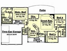 1600 square foot house plans traditional style house plan 3 beds 2 baths 1600 sq ft