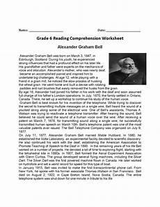 printable comprehension worksheets for grade 6 jowo
