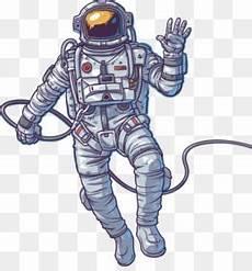 Astronot Luar Angkasa Roket Gambar Png