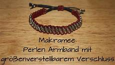 Makramee Perlen Armband Mit Gr 246 223 Enverstellbarem