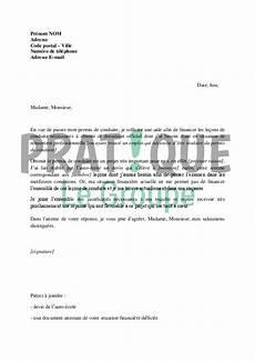 financement permis d lettre de demande de financement du permis de conduire au