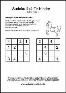 kinder sudoku zum kostenlosen ausdrucken mit l 246 sung
