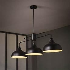 luminaire industriel suspension suspension industriel lincoln m 233 tal noir 3 x 40 w corep