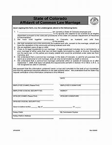 affidavit of common law marriage form colorado free download