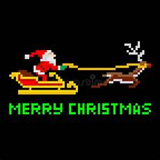 retro pixel art christmas santa stock vector image 34028958