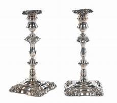 candelieri in argento coppia di candelieri in argento sheffield 1827