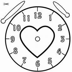 Kostenlose Malvorlage Uhrzeit Lernen Die Uhr Lernen