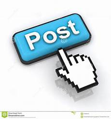 post button with hand cursor stock illustration