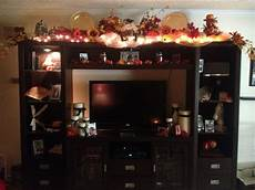 Decorating Ideas Top Of Entertainment Center by Festive Season Decor For Top Of Entertainment
