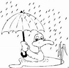 Gratis Malvorlagen Regenschirm Ente Mit Regenschirm Ausmalbild Malvorlage Jahreszeiten