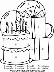 birthday color by number worksheet 16090 addition color by number math worksheets sketch coloring page